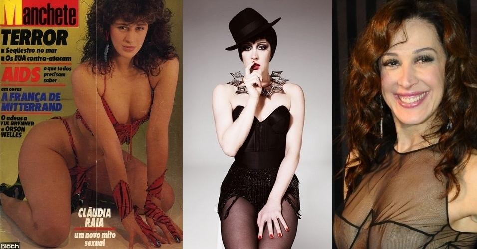 """Claudia Raia, 45, foi uma das mulheres mais fotografadas pelas revistas na década de 1980. Além de vários ensaios para a extinta revista """"Manchete"""", ela protagonizou três capas para a revista """"Playboy"""". Considerada pelos críticos uma das principais atrizes brasileiras, atualmente ela investe na sua carreira no teatro e em musicais"""