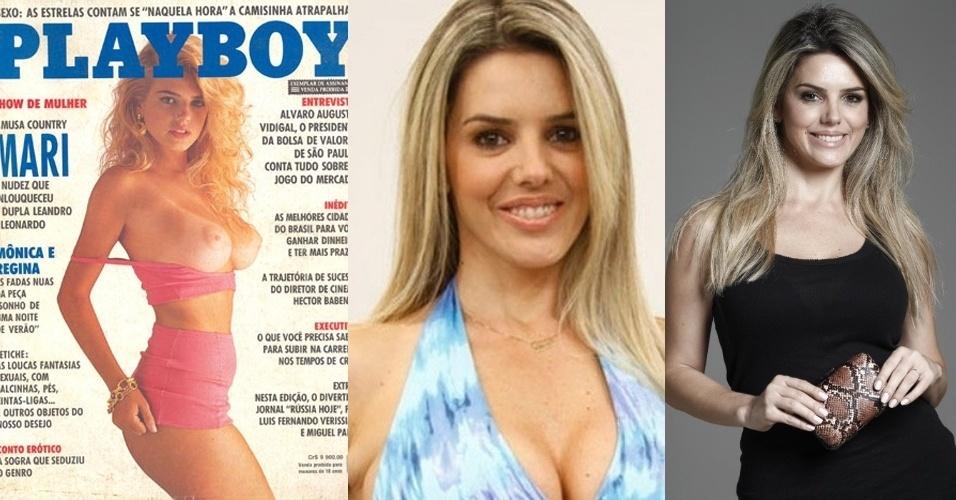 """Mari Alexandre, 38, foi descoberta pelos produtores da revista """"Playboy"""" quando estava na plateia do programa """"Hebe"""", no SBT. Capa da revista em 1992 e de mais seis edições da """"Sexy"""", Mari também emplacou romances com os cantores Leonardo, Vavá e Fábio Jr., com quem teve um filho. Ela faz parte do atual elenco da """"Escolinha do Gugu"""", na Rede Record"""