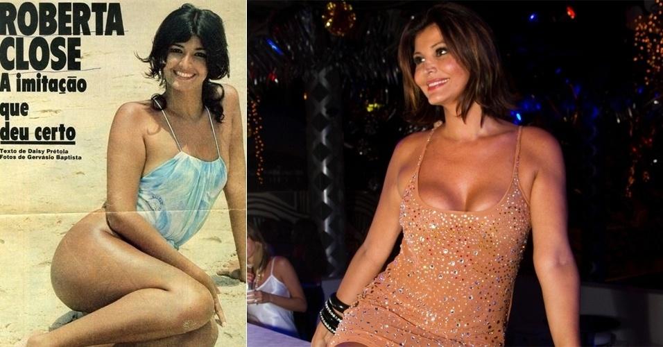 """Mesmo antes da cirurgia de mudança de sexo, a atriz e modelo Roberta Close, 47, já era considerada umas das mulheres mais bonitas dos anos 80. Ela foi a primeira transexual a posar para a revista """"Playboy"""" e atualmente vive na Suíça com o marido"""