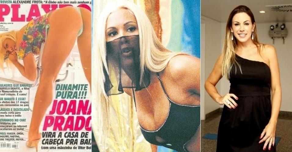 """Na onda da """"Tiazinha"""", Joana Prado, 35, ganhou o público masculino no papel da sensual """"Feiticeira"""", também no programa """"H"""". Seu ensaio para a """"Playboy"""", em 1999, ainda é o mais vendido da história da revista. Joana diz ter deixado para traz seu passado de musa, se casou com o lutador de MMA, Vitor Belfort, é mãe de três filhos e se dedica ao posto de dona da casa onde mora, nos EUA"""