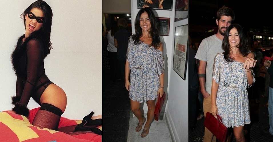 """No papel da sexy """"Tiazinha"""", Suzana Alves, 33, foi a primeira das muitas """"assistentes mascaradas"""" que invadiram a televisão nos anos 1990, no programa """"H"""", da Band, comandado por Luciano Huck. Ela posou duas vezes para a """"Playboy"""". Suzana casou-se com o ex-tenista Flávio Saretta e atualmente tenta retomar sua carreira como atriz e modelo"""