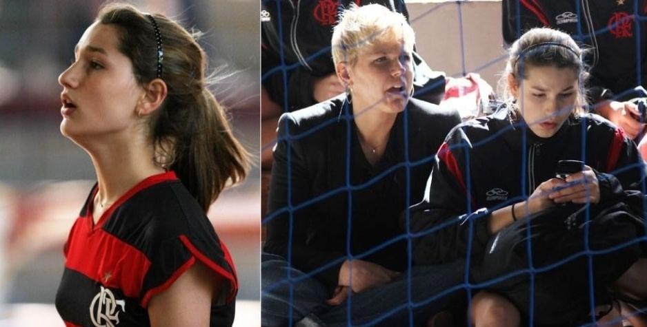 4.jul.2011 - Sasha descansa deitada no chão após treino de vôlei no Rio