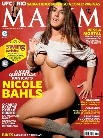 Nicole Bahls estampa capa da revista &#34;Maxim&#34; de agosto de 2011