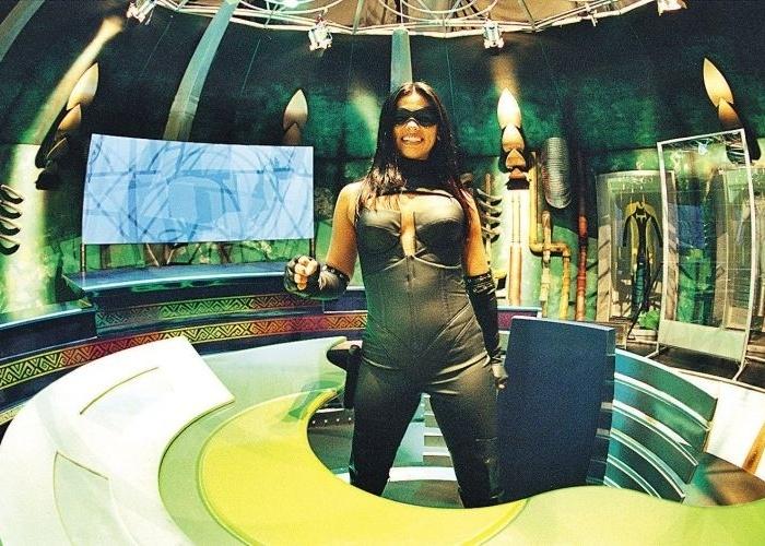 """Suzana Alves também teve seu próprio programa na TV Bandeirantes, chamado """"As Aventuras de Tiazinha""""."""