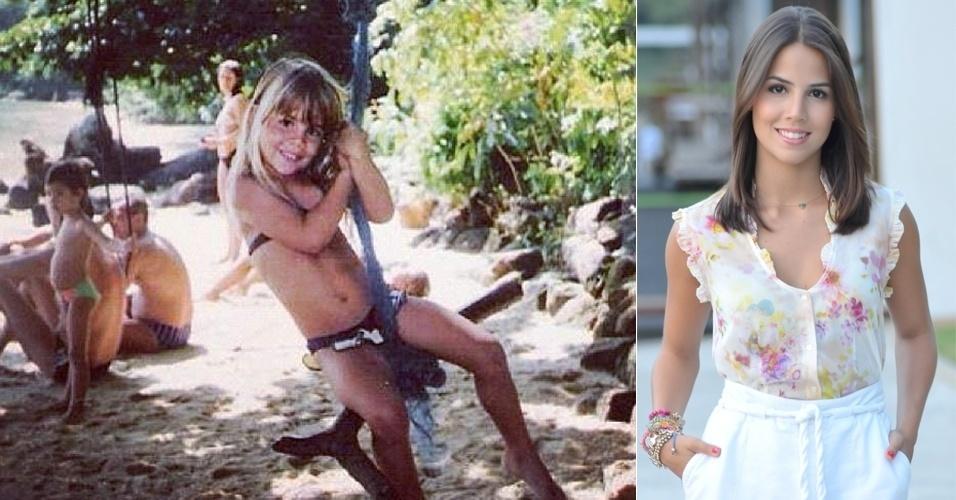 """""""Perolinha"""", escreveu a atriz Pérola Faria ao postar no Instagram uma imagem de quando era garotinha e ainda tinha os cabelos bem loiros (9/8/12)"""