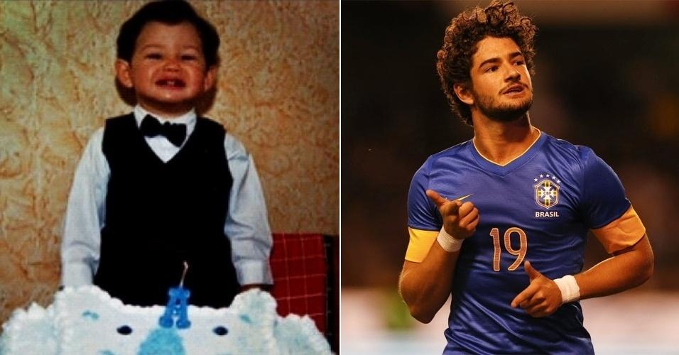 Olha que fofurinha o jogador Alexandre Pato pequenino! O atleta publicou a primeira imagem na web, fazendo referência ao próprio aniversário; Pato completa 23 anos neste domingo (2/9/12)
