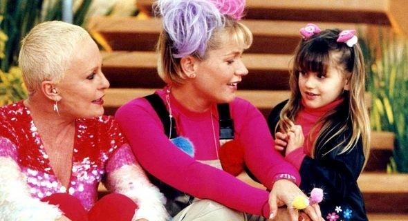 """2001 - Xuxa e Sasha no programa de Ana Maria Braga, """"Mais Você"""""""