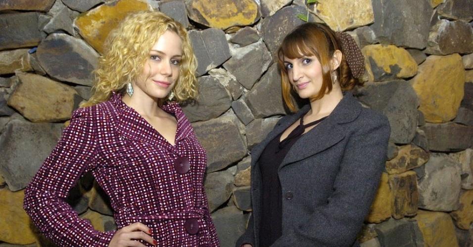 a atriz Leandra Leal (esquerda) e a escritora Clarah Averbuck