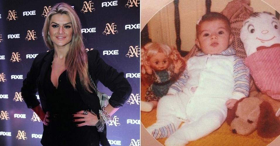 """Mirella Santos, dançarina e apresentadora, divulgou foto pra lá de fofa da infância no Instagram. Essa menininha linda virou um mulherão! """"Gente, olha eu quando era bebê"""", comentou ela (8/9/12)"""