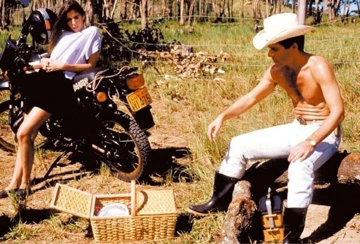 """Malu Mader protagonizou a novela """"Fera Radical"""" ao lado de José Mayer (1988)"""