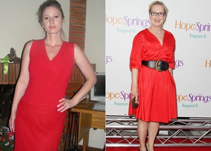 Claudia revela que amigos e familiares a acham parecida com a atriz hollywoodiana Meryl Streep