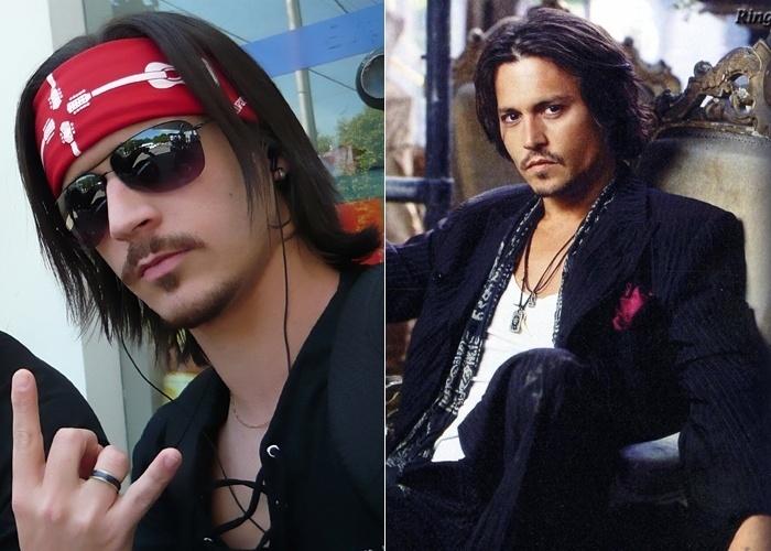 Direto de Pimenta (MG), Mateus Garcia gosta de ser comparado com o astro do cinema Johnny Depp
