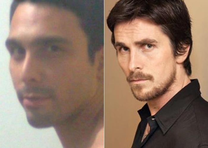Lincoln Nery se parece com o ator Christian Bale, que faz o papel de 'Batman' nos novos filmes do herói; ele é do Rio de Janeiro