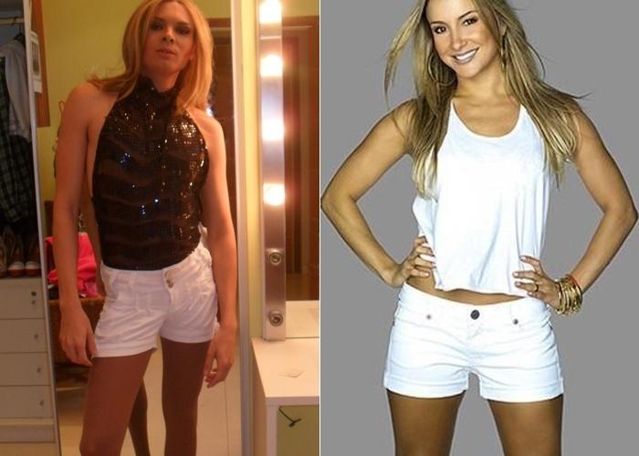 O internauta Anndreh Gomez tem 28 anos de idade e vive em São Paulo capital. Ele mostra uma foto e revela que se acha parecido com a cantora Cláudia Leitte