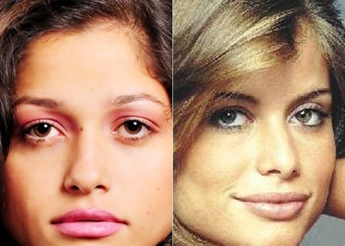 Os traços de Rhendrika de Souza lembram a atriz Alinne Moraes; ela é de Volta Redonda (RJ)
