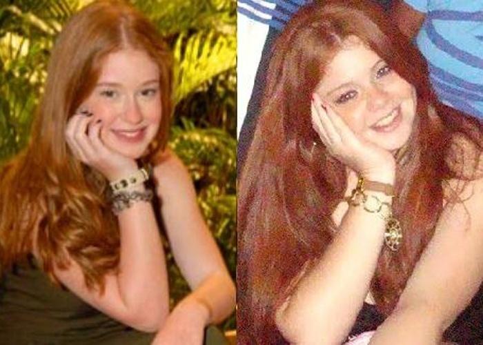 Renata Moreira vive na zona Norte de São Paulo. Ela tem 20 anos de idade e enviou uma foto em que aparece idêntica a atriz Marina Ruy Barbosa
