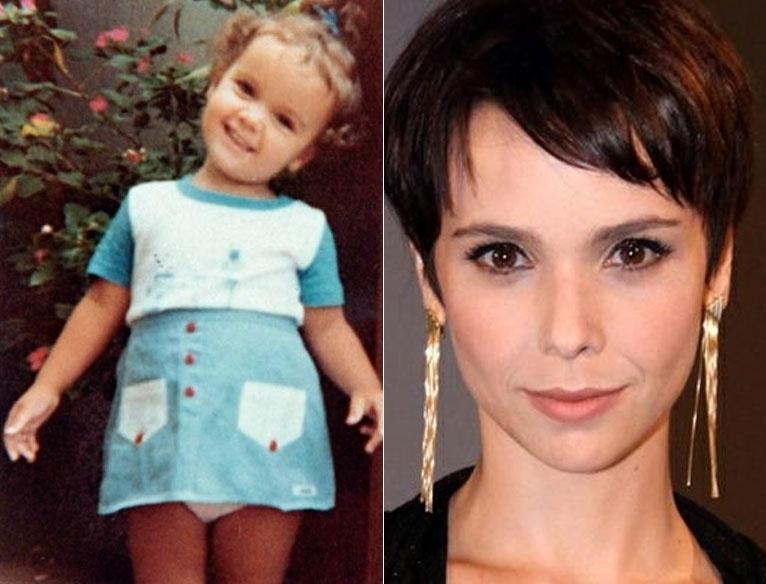 Aos quatro aninhos, quem poderia imaginar que a sorridente Débora Falabella seria atriz e protagonista de horário nobre na pele da mocinha anti-heroína Nina, na novela 'Avenida Brasil'?