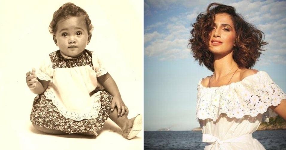 """Que fofurinha a Camila Pitanga bebêzinha! A carioca cresceu, ganhou ainda mais beleza, talento e fama. Atualmente a atriz está ganhando destaque como Isabel da novela global """"Lado a Lado"""""""
