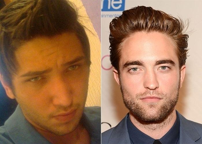 Lucas Bertuchi, de São Paulo (SP), se considera parecido com o ator britânico Robert Pattinson