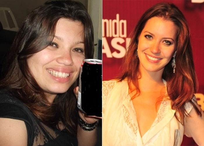 Rubia tamb&#233;m se acha se acha parecida com a atriz Nathalia Dill. Pelo jeito, a atriz est&#225; cheia de s&#243;sias