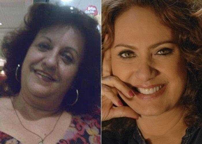 A carioca Angela Cavalcanti se acha parecida com a atriz Eliane Giardini