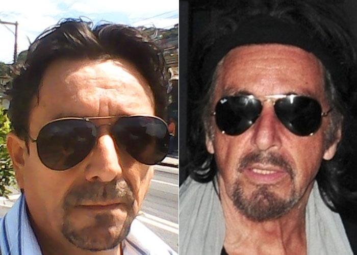 Jorge Luiz Bezerra se considera parecido com o ator Al Pacino