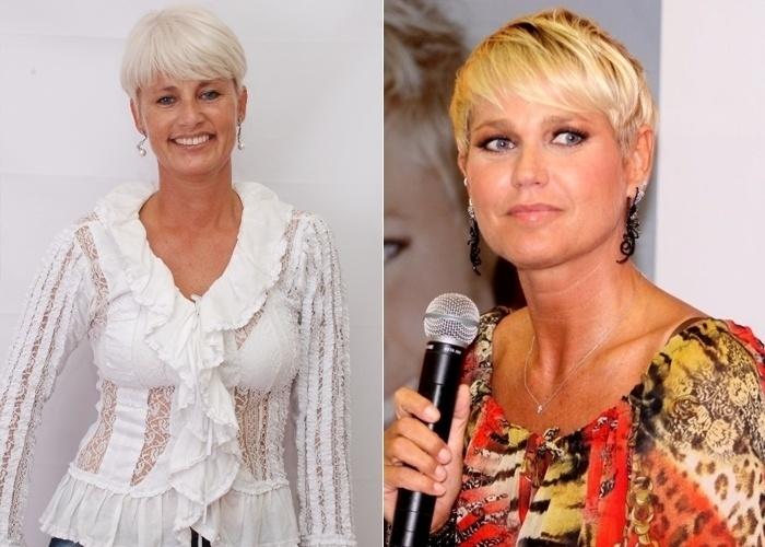 A gaúcha radicada no Rio Patrícia Frantz Rufffaz figuração na novela 'Cheias de Charme' e, desde de 1986, quando a Xuxa começou a fazer o seu show, as pessoas a comparam com a apresentadora.