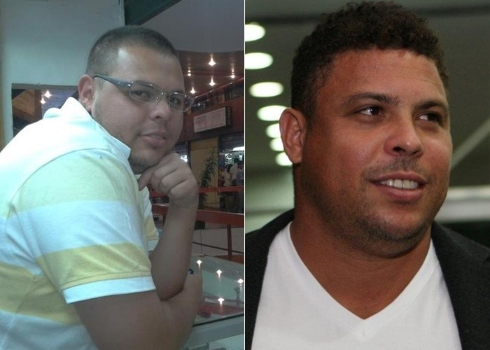 Leandro Farias se parece com o ex-jogador Ronaldo. Ele &#233; de S&#227;o Paulo capital.