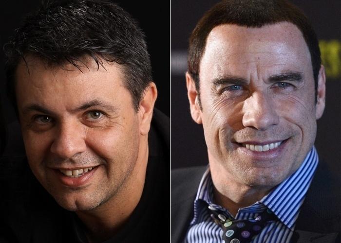 De Ribeirão Preto (SP), Thyrso Pomatti diz que se parece com John Travolta.