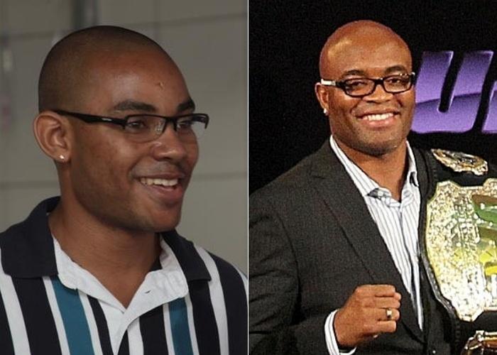 """Rodrigo Miranda diz que se parece com o lutador Anderson Silva. """"Algumas pessoas ficam falando que eu pareço com ele, ainda mais quando ele está de óculos"""", relata o internauta."""