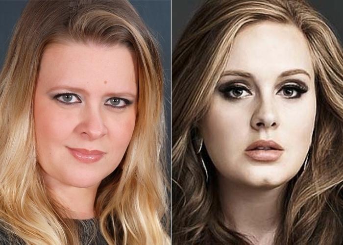 A cantora britânica Adele ganhou mais uma sósia; Carla Dalsasso, internauta que afirma que pessoas costumar dizer que ela lembra a artista