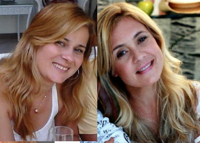 Patricia Santana diz que se parece com a atriz Adriana Esteves; ele á de Salvador (BA).