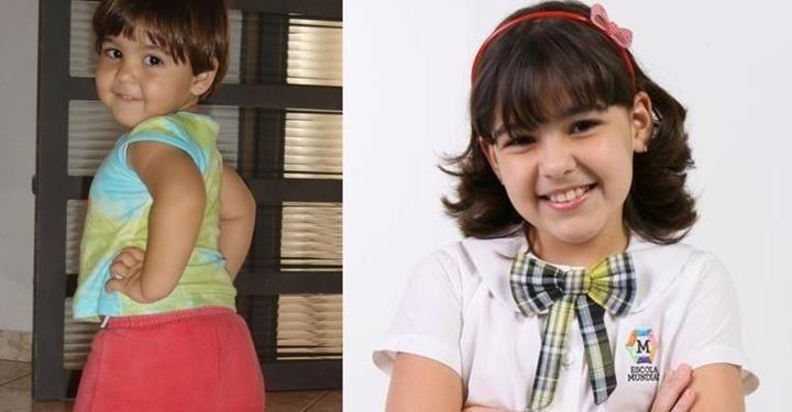Ana Zimmermann, que interpreta Marcelina em ?Carrossel?, aparece em foto de quando ainda era bebê. Muito fofa, não?