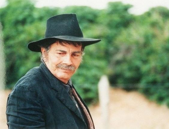 """O ator Tarcísio Meira em cena da novela """"O Rei do Gado"""" (16/6/96)"""