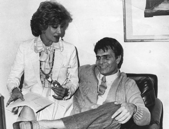 Os atores Glória Menezes e Tarcício Meira dão entrevista no Rio de Janeiro (RJ) (27/1/88)