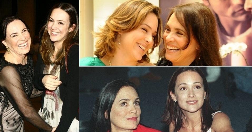 """Gabriela e Regina Duarte são muito parecidas e unidas. As duas atuaram juntas em """"Por Amor"""" (1997), como mãe e filha na ficção, e """"Chiquinha Gonzaga"""" (1999), como a mesma personagem em fases diferentes da vida"""