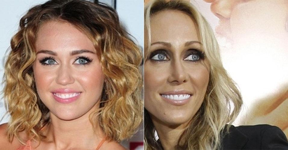 Miley Cyrus puxou o sorriso e o olhar da mãe, Tish