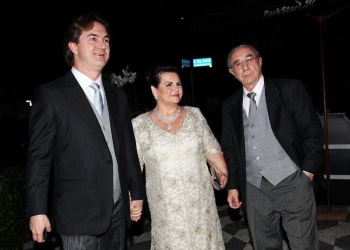 Joesley Batista e os pais