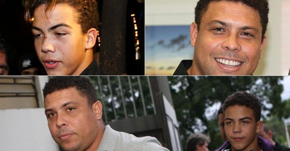 """Ronald, filho do ex-jogador Ronaldo Nazário, não nega as origens. O menino, fruto de um relacionamento entre o """"Fenômeno"""" e Milene Domingues, parece muito com o pai"""