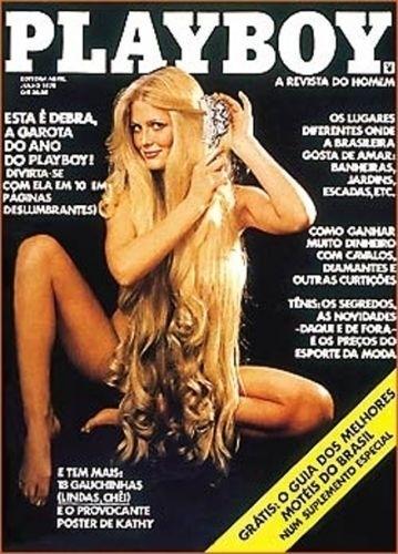 Julho de 1978 - Debra (capa pela 2ª vez). Foi nesta capa que a revista mudou o nome de 'Homem' para 'Playboy'