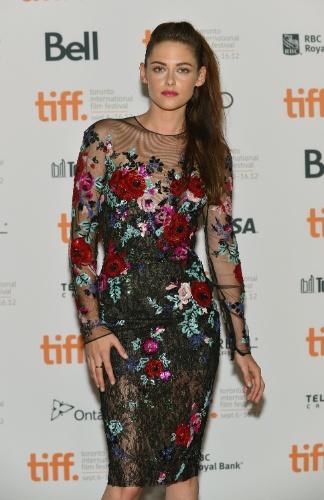 "Kristen Stewart, atriz, na première de ""On The Road"" em Toronto, Canadá (8/9/12"