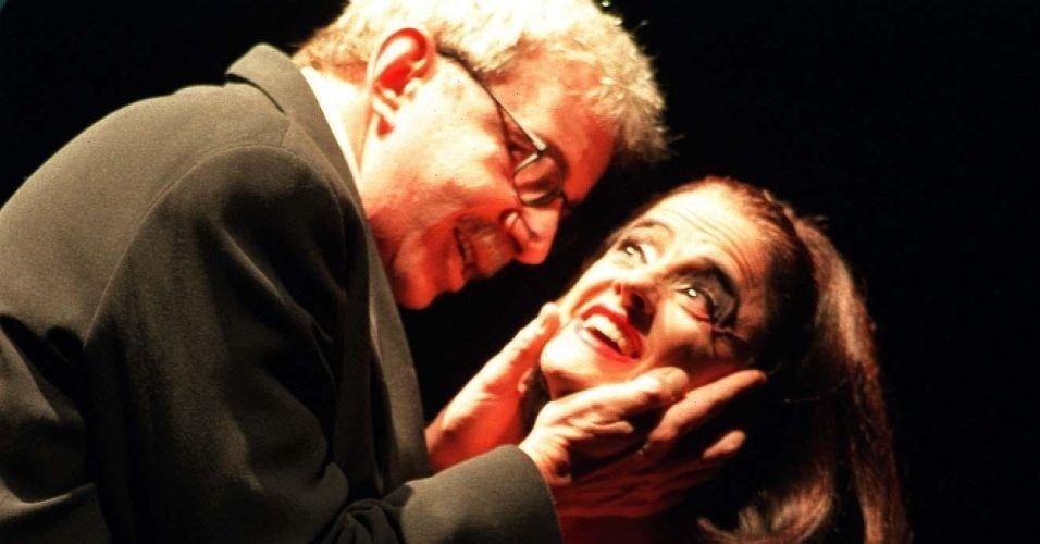 """Marco Nanini e Marieta Severo na peça """"Quem Tem Medo de Virgínia Woolf"""" (6/6/00)"""