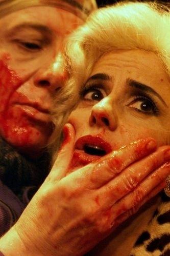 """Marco Nanini e Marieta Severo durante ensaio da peça """"Os Solitários"""", sob a direção de Felipe Hirsch, no teatro Alpha, em SP (28/2/02)"""