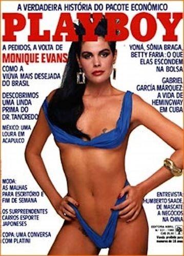 Junho de 1986 - Monique Evans (capa pela 2ª vez)