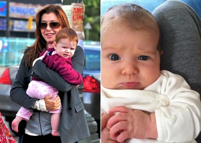 """23.mai.2012 - Alyson Hannigan, conhecida por atuar em """"American Pie"""" e na série """"Buffy, a caça-vampiros"""", deu à luz sua segunda filha, Keeva Jane Denisof. A atriz também é mãe de Satyana, de 3 anos"""