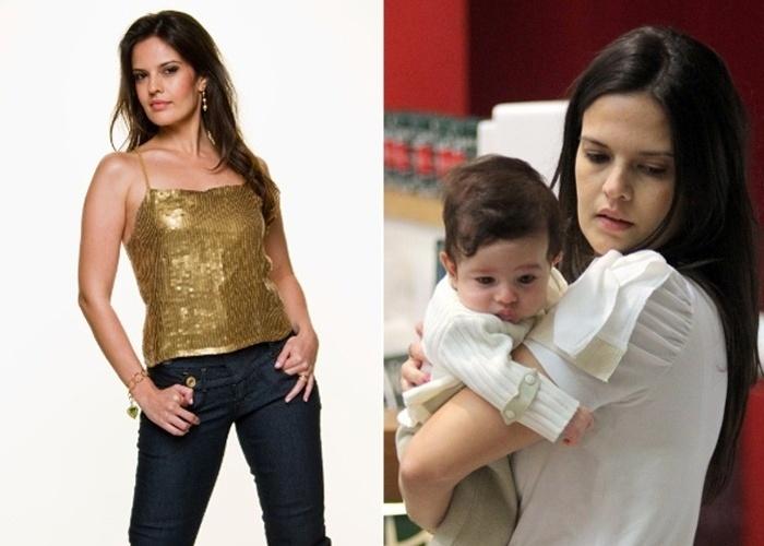 26.jul.2012 - Raquel Nunes, atriz da TV Record, foi mamãe pela segunda vez. O pequeno Arthur veio fazer companhia ao irmãozinho Gabriel, de 4 anos