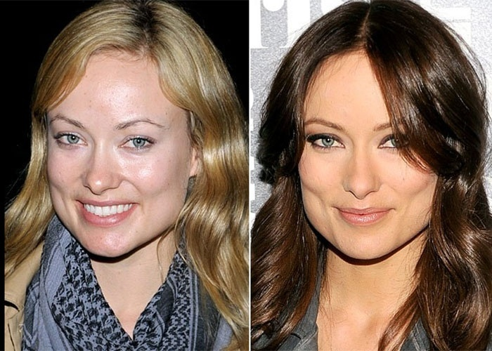 A atriz norte-americana Olivia Wilde &#233; bel&#237;ssima, com ou sem maquiagem