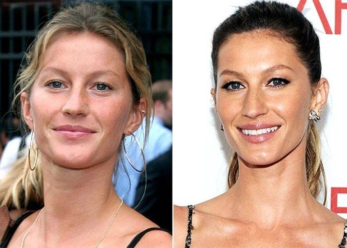 Gisele B&#252;ndchen prova que &#233; linda de qualquer jeito, com ou sem maquiagem