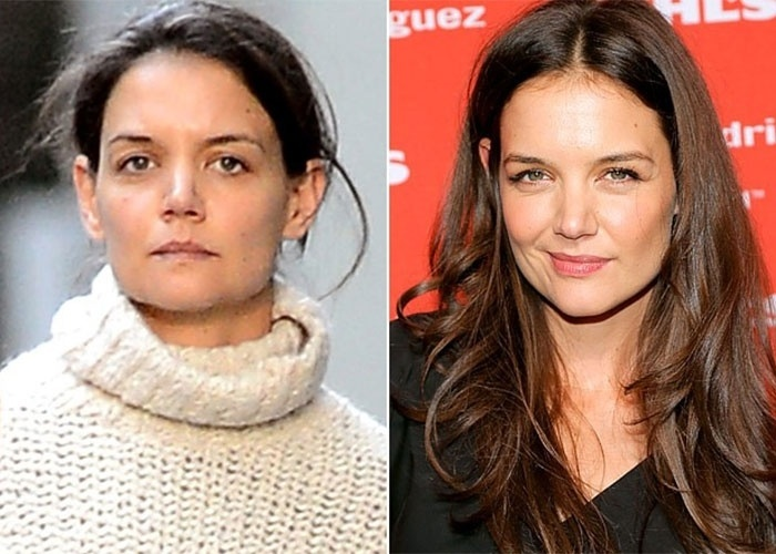 Katie Holmes, ex-mulher de Tom Cruise, n&#227;o apresenta muita diferen&#231;a sem maquiagem