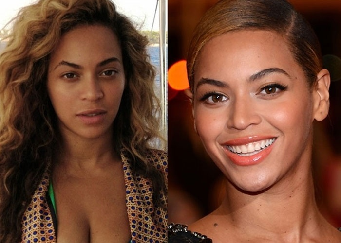Mesmo sem maquiagem, a diva Beyonc&#233; n&#227;o perde a beleza
